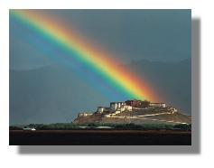 Rainbow Over Potala Palace, Lhasa Tibet_Galen Rowell